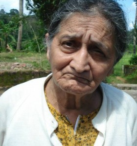 B.A. Kaveriamma, widow of late Nb Sub B.N. Ayyappa.