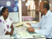Kalavathi is seen explaining her saga to Vekare Ex-Servicemen Trust President M.N. Subramani at the latter's office in city.