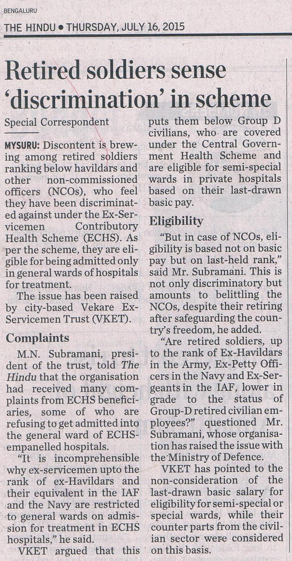 The Hindu 16.07.2015